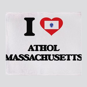 I love Athol Massachusetts Throw Blanket
