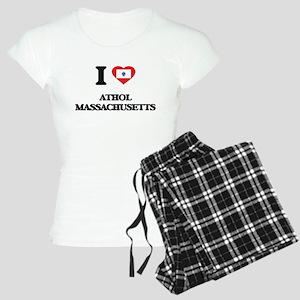 I love Athol Massachusetts Women's Light Pajamas