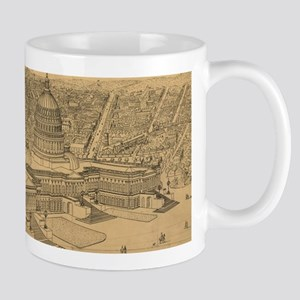 Vintage Pictorial Map of Washington D.C. (187 Mugs
