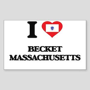 I love Becket Massachusetts Sticker