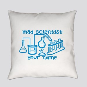 Personalized Mad Scientist Everyday Pillow