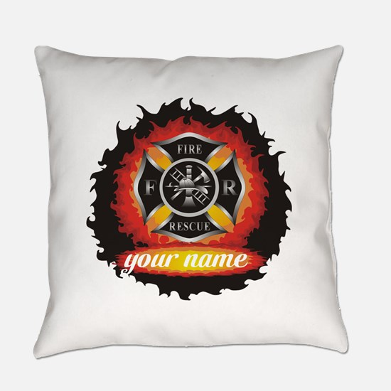 Personalized Fire and Rescue Everyday Pillow
