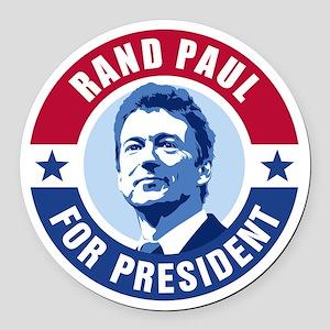 Rand Paul Retro Round Car Magnet