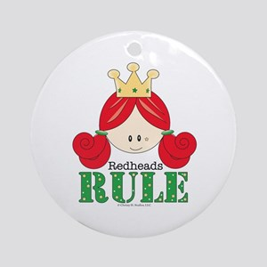 Redheads Rule Redhead Ornament (Round)