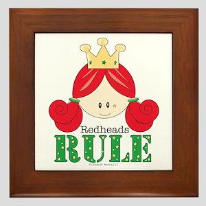 Redheads Rule Redhead Framed Tile