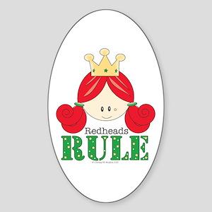 Redheads Rule Redhead Oval Sticker