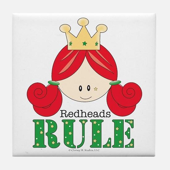 Redheads Rule Redhead Tile Coaster