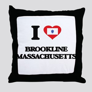 I love Brookline Massachusetts Throw Pillow