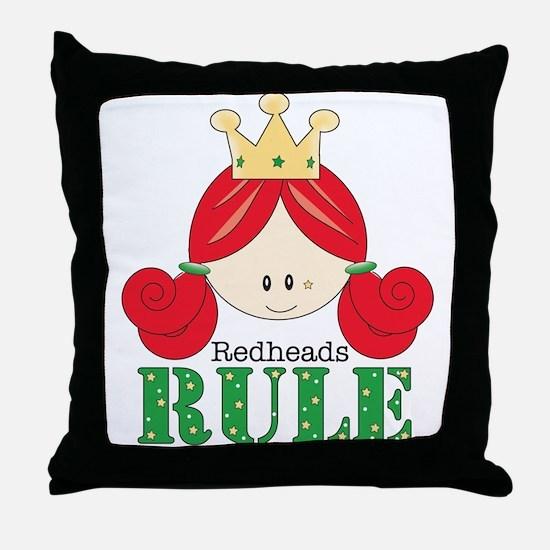 Redheads Rule Redhead Throw Pillow