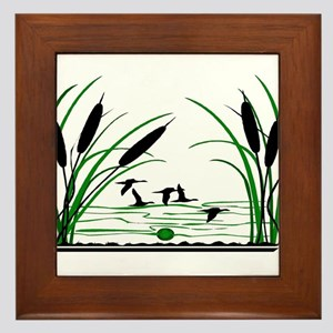 DUCK HUNTERS PARADISE Framed Tile