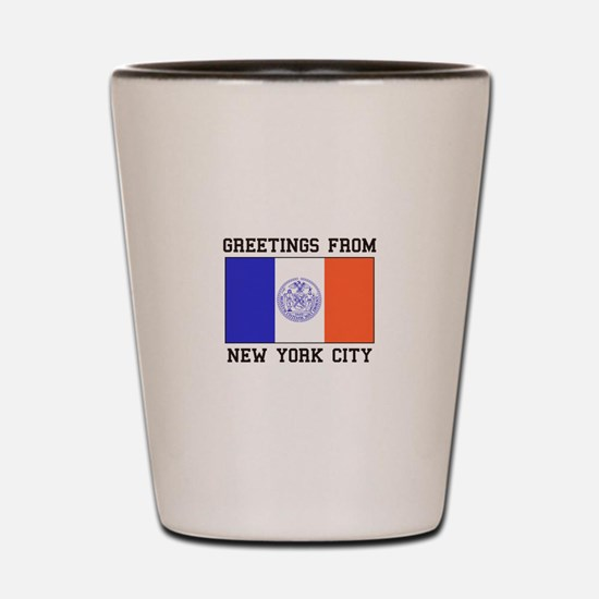 Greetings From New York Shot Glass