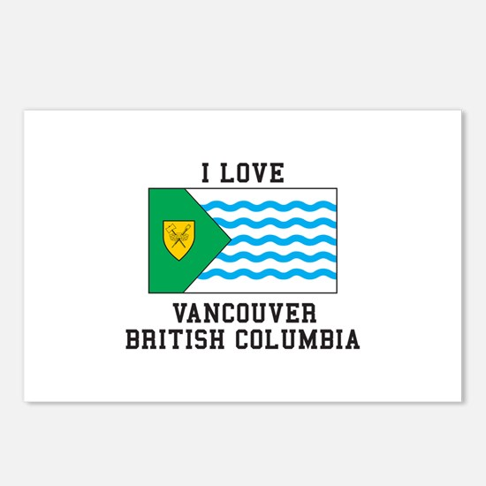 I Love Vancouver, British Columbia Postcards (Pack