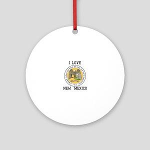 I Love New Mexico Ornament (Round)