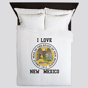 I Love New Mexico Queen Duvet