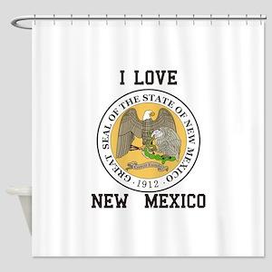 I Love New Mexico Shower Curtain
