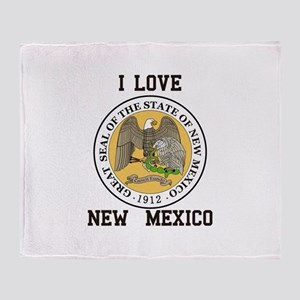 I Love New Mexico Throw Blanket