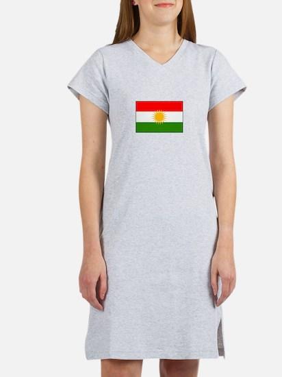 Kurdistan Iraq Flag Women's Nightshirt