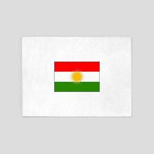 Kurdistan Iraq Flag 5'x7'Area Rug