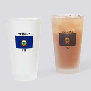 Vermont yeP Drinking Glass