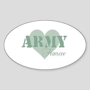 Fiancee Oval Sticker