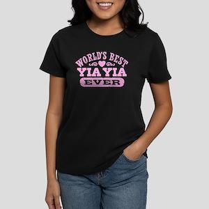 World's Best Yia Yia Ever Women's Dark T-Shirt