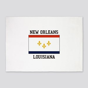 New Orleans Flag 5'x7'Area Rug
