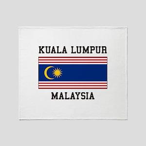 Kuala Lumpur Malaysia Throw Blanket