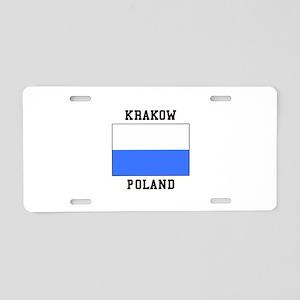 Krakow Poland Aluminum License Plate
