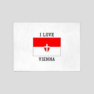 I Love Vienna 5'x7'Area Rug