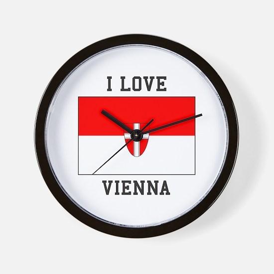 I Love Vienna Wall Clock