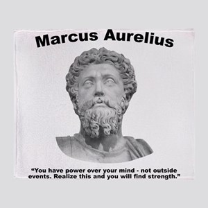 Aurelius: Strength Throw Blanket
