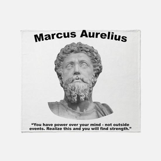 Aurelius: Strength Throw Blanket