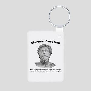 Aurelius: Strength Aluminum Photo Keychain