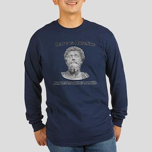 Aurelius: Strength Long Sleeve Dark T-Shirt