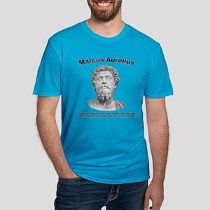 Aurelius: Strength Men's Fitted T-Shirt (dark)