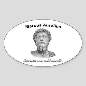 Aurelius: Strength Sticker (Oval)