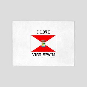 I Love Vigo spain 5'x7'Area Rug