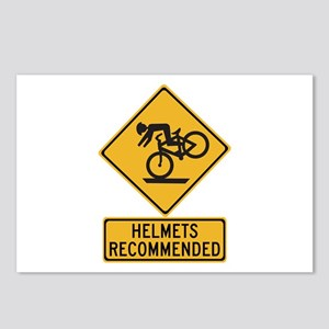 Helmets Recommended w/text - USA Postcards (Packag