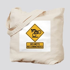 Helmets Recommended w/text - USA Tote Bag