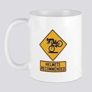 Helmets Recommended w/text - USA Mug