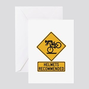 Helmets Recommended w/text - USA Greeting Card