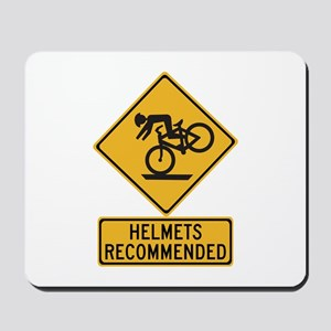 Helmets Recommended w/text - USA Mousepad