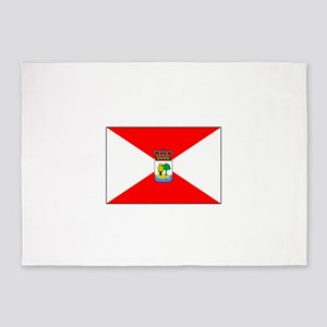 Vigo, Spain Flag 5'x7'Area Rug