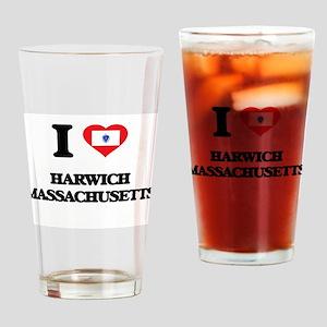 I love Harwich Massachusetts Drinking Glass
