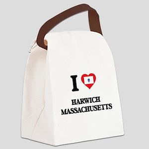 I love Harwich Massachusetts Canvas Lunch Bag