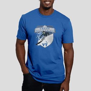 Ski Green Mountains Men's Fitted T-Shirt (dark)