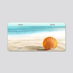 Summer Sand Aluminum License Plate