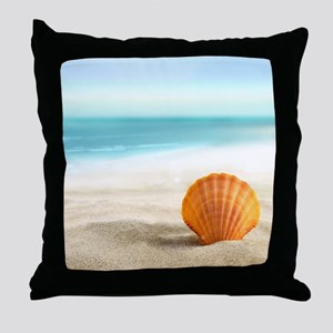 Summer Sand Throw Pillow