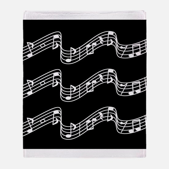 Reversible! Music, Music, Music Throw Blanket