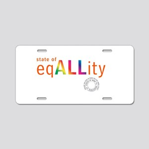 State of Equality Aluminum License Plate